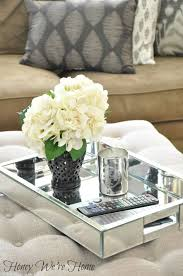 How To Decorate A Coffee Table Tray Furniture Mirrored Coffee Table Contemporary Tables Unique Ideas 22