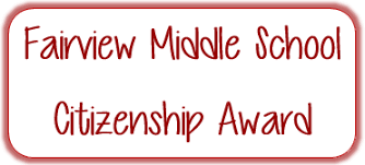 Citizenship Award Nomination Fairview School District