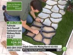do it yourself cobblestone look walkway molds by pathmate youtube