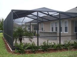 long screen room patio pool