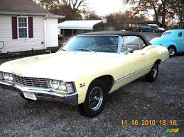 1967 Butternut Yellow Chevrolet Impala Convertible #40004475 ...