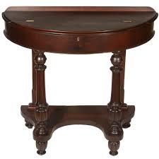 demilune mahogany table for 1940s half circle