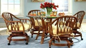 beautiful rolling dining room chairs of upholstered with casters chair