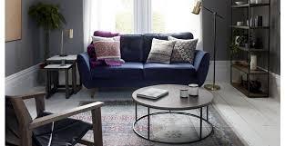 zinc velvet 3 seater sofa luxe velvet