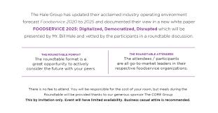 food service 2025