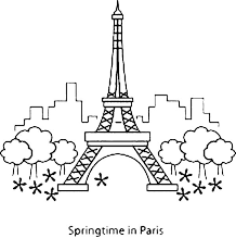 Small Picture Springtime in Paris with Eiffel Tower Coloring Page Download
