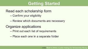 how to write a letter asking for scholarship money pictures  image titled write a letter asking for scholarship money step 1