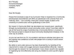 Cover Letter For Community Worker Barca Fontanacountryinn Com
