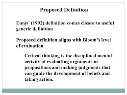 Ennis critical thinking test