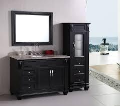 design element hudson single 48 inch espresso transitional bathroom vanity set
