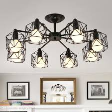 2018 vintage chandeliers multiple rod wrought iron ceiling lamp e27 bulb living room lamparas for home lighting fixtures from rangcy2008 49 75 dhgate