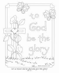 Boekenlegger Kleurplaat Luxe Glory Of The Lord Coloring Page