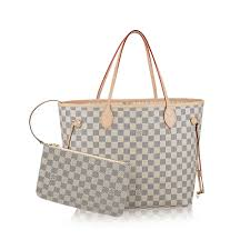 louis vuitton bags. neverfull mm damier azur in women\u0027s handbags collections by louis vuitton bags