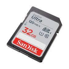 Thẻ nhớ Máy Ảnh SDHC 32GB Sandisk Ultra Class10 UHS-I 120MB/s giá rẻ - Thẻ  nhớ máy ảnh Hãng SanDisk