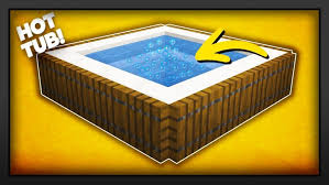 minecraft how to make a new working hot tub hd
