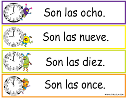 FREE ~ Spanish Printouts for Children ~ Worksheet Time ~ Time in ...