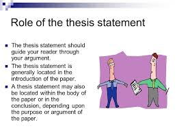 where is the thesis of a paper located tips on writing a thesis statement writing center
