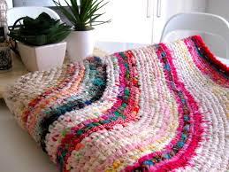 multi colored rag rug