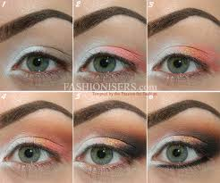 lace patterned eye makeup tutorial step 4 apply