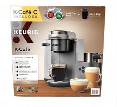 Browse keurigs at kohl's® now!. Amazon Com Keurig K Cafe C Single Serve K Cup Pod C Latte And Cappuccino Maker 12 Nickel Kitchen Dining
