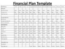 Business Financials Template