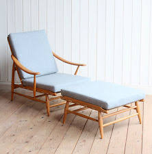 ercol easy chairs for sale. vintage retro ercol blonde 442 lounge arm chair and footstool mid century easy chairs for sale i