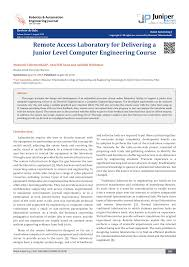 PDF) Remote Access Laboratory for Delivering a Junior Level Computer  Engineering Course