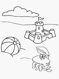 Beach Coloring Pages Beach Printable Coloring