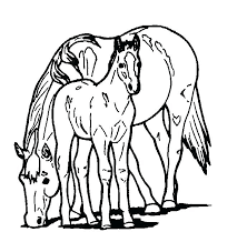Coloring Circus Horses Coloring Pages