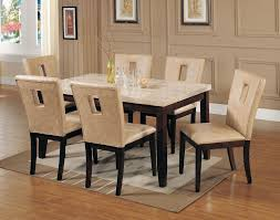 Spacious Small Marble Top Dining Table Of Room Sets With Tops Elegant As 5  0 ...