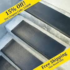 outdoor rubber stair treads safety first rubber stair mats 6 pack rubber outdoor stair treads mats