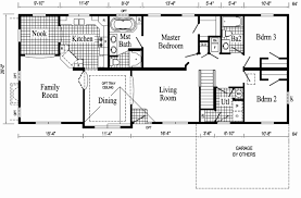 Ranch Floor Plans with Walkout Basement Best Of Open Floor Ranch House  Plans Style Home Designs E Story with