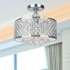 crystal flush mount chandelier chrome finish and crystal flush mount chandelier clear 8 crystal chrome flush