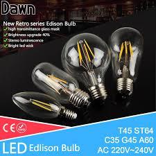 Wholesale Classical Retro Led Edison Bulb E27 E14 Led Lamp 220v Antique Vintage Filament Light Glass Bulb Candle Lamparas Bombillas