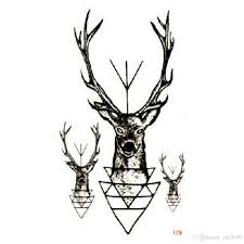 горячие конструкции олень временная татуировка для женщин татуировки боди арт 105