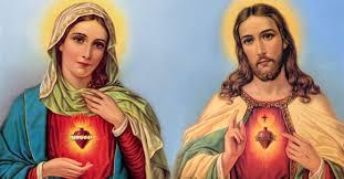 Risultati immagini per cuore sacratissimi di gesu e maria