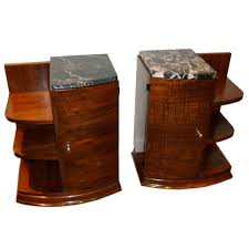 french art deco rosewood matching end tables or night stands