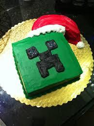 Creeper Cake Design Minecraft Creeper Christmas Cake Minecraft Christmas