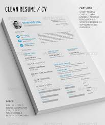 Clean Resume Template Custom 28 Premium CV Resume Templates In INDD EPS PSD XDesigns