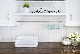 laundry room makeover with diy counter top