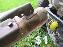picture of golf ball trailer hitch for riding lawnmowers lawn tractors garden tractors