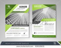 Green Brochure Template Business Green Brochure Flyer Download Free Vector Art Stock