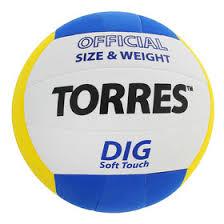 <b>Мяч волейбольный Torres</b> Dig, V20145, размер 5, клееный ...