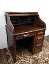 small oak roll top desk antiques atlas for vintage decor old computer plans free within prepare