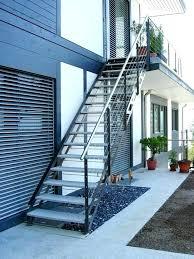 metal outdoor stairs exterior stair stringers steps handrail kits garden railings uk