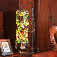 High End Grape Pattern Stained Glass Shade Tiffany Hanging Lamps
