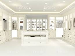 Large Walk In Closet Designs An American Luxury Walkin Closet With Many Space 3d