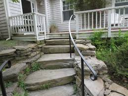 Wrought Iron Handrails Wrought Iron Railing On Natural Stone Steps Pinteres