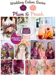 peach wedding colors. Plum and Peach Wedding Color Palette Robes by silkandmore