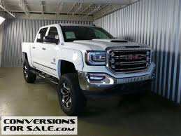 white gmc trucks. Plain Gmc Black Widow 2016 GMC Sierra 1500 SLT White Lifted Truck  Intended Gmc Trucks E